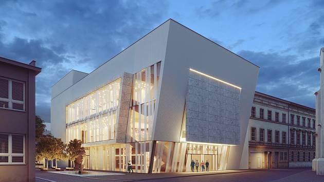 Pro nový kulturní dům zvolili zastupitelé variantu přístavby k Besednímu domu v centru města.