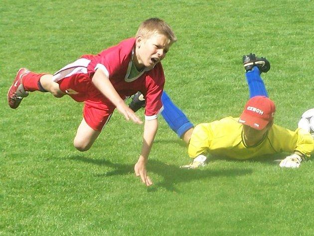 Na vyškovském fotbalovém stadionu probíhaly v pátek urputné boje malých fotbalistů. Hráči ukázali, že mnozí z nich mohou vyrůst ve velké osobnosti kopané na Vyškovsku.