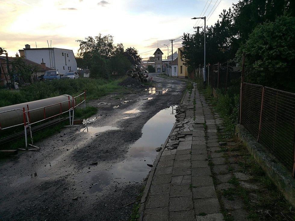Ulice Luční ve Vyškově.