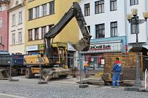Důvodem současných prací na vyškovském Masarykově náměstí je špatný stav kanalizace.