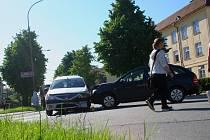 Příčinou čtvrteční nehody ve vyškovské Nádražní ulici bylo nedání přednosti v jízdě.