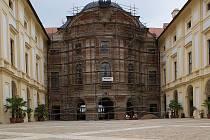 Opravy slavkovského zámku. Ilustrační foto.