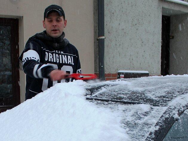 Vyškovsko zasypal sníh. Ve Vyškově napadlo zhruba deset centimetrů sněhu.