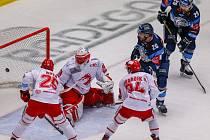Třinečtí hokejisté v boji s vedoucím Libercem neuspěli a prohráli 2:5.