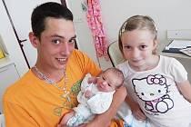 Damian Monsport a teta Nikola, Veřovice, nar. 10. 6., 50 cm, 3,15 kg. Nemocnice Frýdek-Místek.