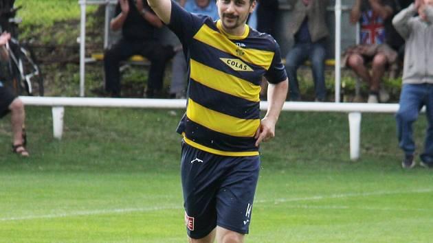Zkušený středopolař Michal Chlebek se stal jediným střelcem utkání.