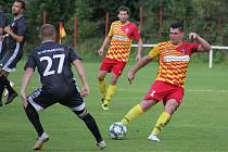 Frýdlantský Michal Švrček dal v duelu s Dětmarovicemi dva góly a řídil výhru svého týmu, který zvítězil 4:2.