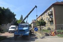 Oprava horkovodu v ulicích Vrchlického, Fibichova a ČSA ve Frýdku-Místku.