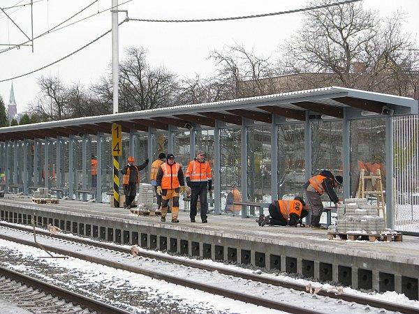 Nová železniční zastávka vTřinci-Lyžbicích je téměř hotova.
