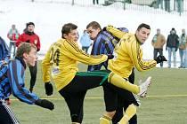 Třetiligoví fotbalisté Frýdku-Místku vstoupili do zimní přípravy porážkou. V souboji s Karvinou se rozhodlo až po změně stran.