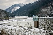 Prohlídka rekonstruované beskydské přehrady Šance.