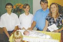 Fotografie z vítání občánků z Fryčovic.