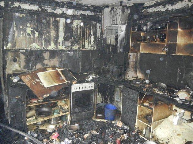 Požár domu v Hrádku.