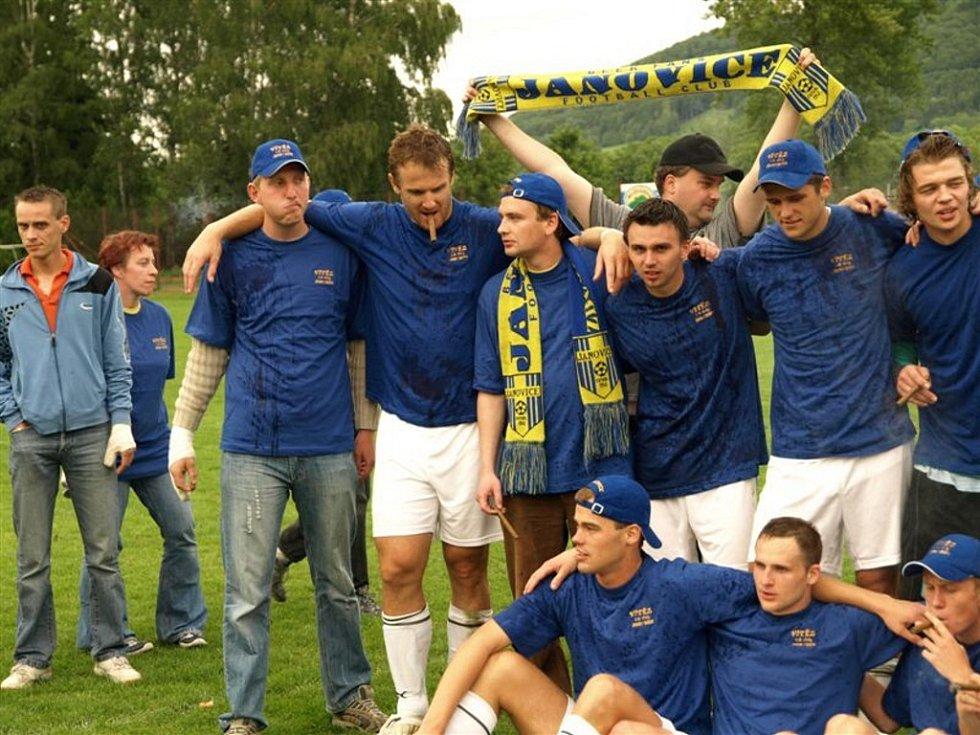 Fotbalisté Janovic se po roce opět posouvají do vyšší soutěže.