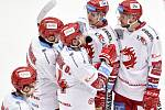 46. kolo hokejové extraligy mezi HC Oceláři Třinec - HC Vítkovice Ridera v Třinci dne 16. února 2020. Smutek Třince.