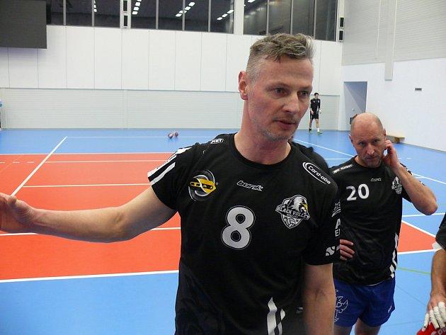 Hrající trenér BV Beskydy Přemysl Kubala.
