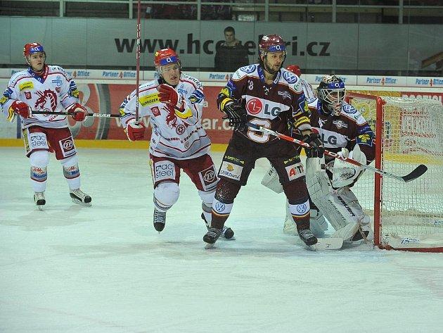 Z utkání HC Oceláři Třinec – HC Sparta Praha