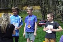 Ocenění nejlepších orientačních běžců.