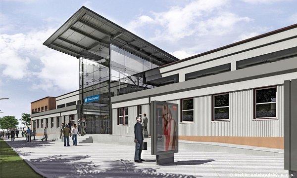Vizualizace budoucí podoby nádraží.