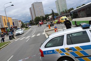 Dopravní nehoda na Ostravské ulici ve Frýdku-Místku