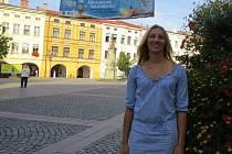 Lenka Kolarčíková na náměstí Svobody v Místku, kde se Beskydské rekordy uskuteční.
