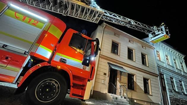 Zásah hasičů ve Frýdku-Místku.