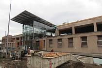Stavba dopravního terminálu v Třinci.