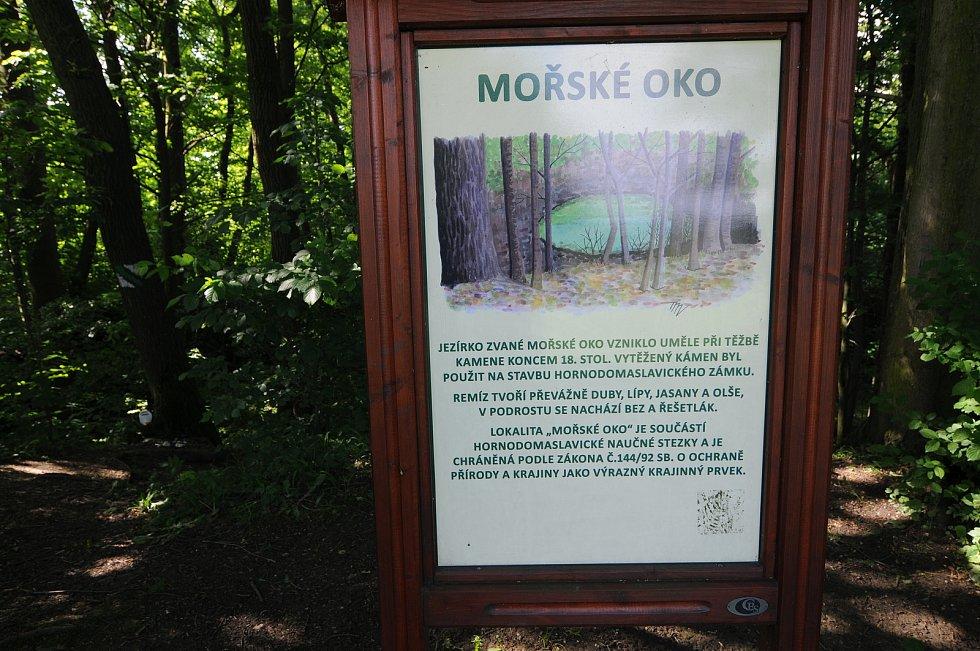 Mořské oko představuje jednu ze zajímavostí obce Horní Domaslavice. Vzniklo uměle při těžbě kamene koncem 18. století.
