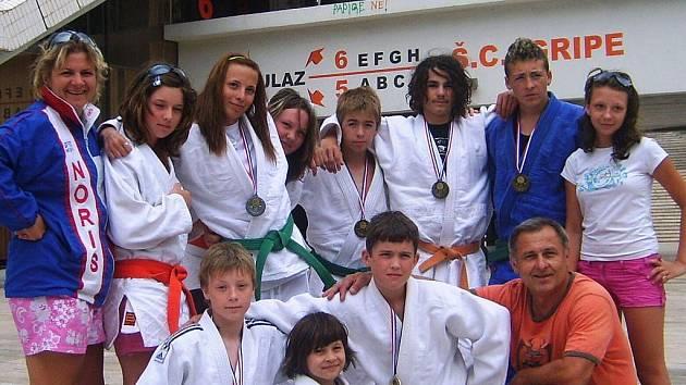 Mladí judisté ve Splitu.