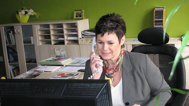 Monika Konvičná ve své pracovně v BIC na náměstí Svobody v Místku.