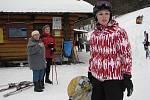 SKI areál Sviňorky v Morávce přilákal v sobotu 21. ledna na upravenou sjezdovku hodně lyžařů.