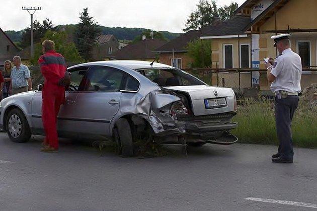Nedělní dopravní nehoda v Brušperku.