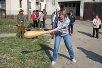 Další akce lašského království proběhla o velikonoční neděli 12. dubna u hotelu Prosper v Čeladné.