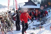 SKI areál Sviňorky v Morávce upořádal v sobotu 12. února další ročník lyžařského závodu O pohár starosty.