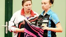 Známá trenérka a bývalá hráčka Marie Hrachová (vlevo).