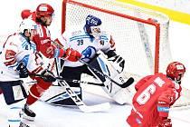 Hokejisté Třince v duelu 19. kola extraligy proti Plzni.