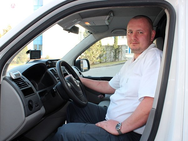 Řidič sanitky Martin Kučera.