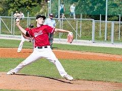 Jedním z pilířů frýdecko-místeckých baseballistů v dvojzápase s Hlubokou byl nadhazovač Michal Baker.