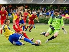 Marek Čech (v zeleném) si loni zahrál i za Frýdlant.