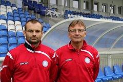 Novým trenérem frýdecko-místeckých Valcířů se stal Josef Petřík starší (vpravo). Asistentem bude jeho syn Josef mladší.