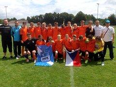 Fotbalisté MFK Frýdek-Místek (U14) skončili v Německu na 8. místě.