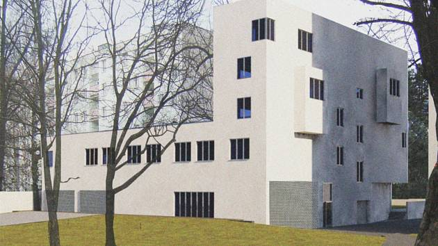 Vizualizace nového bytového domu.