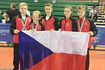 Taekwondisté Frýdku-Místku reprezentující Českou republiku na světovém šampionátu.