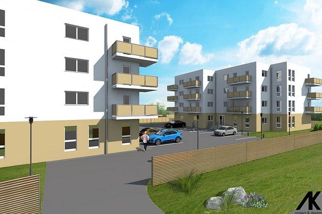 Vizualizace projektu Rezidence Na Poříčí ve Frýdku.