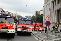 Budova frýdeckého magistrátu zažila taktické cvičení hasičského záchranného sboru. O cvičení téměř nikdo nevěděl.