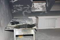 Požár fritézy v Řepištích