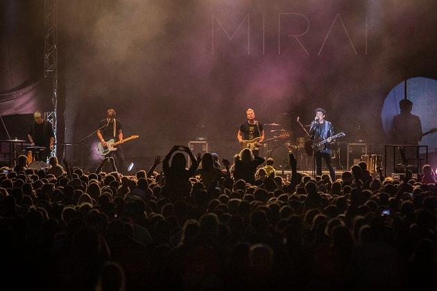 Festival FM City Fest, 12.července 2019ve Frýdku-Místku. Na snímku kapela Mirai.