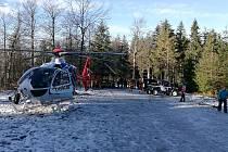 Zásah leteckých záchranářů MSK a Horské služby Beskydy.