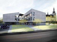 Vizualizace staříčského bydlení pro seniory. Takovou podobu by stavba měla získat přibližně v srpnu.