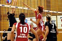 Ve Frýdku-Místku o víkendu pokračovala 22. kolem nejvyšší soutěž volejbalistek. Sokolky si v domácím prostředí snadno poradily v derby s Ostravou.